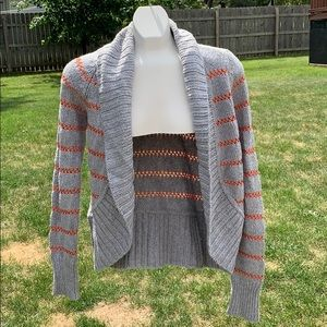 Gray and coral American Eagle cardigan